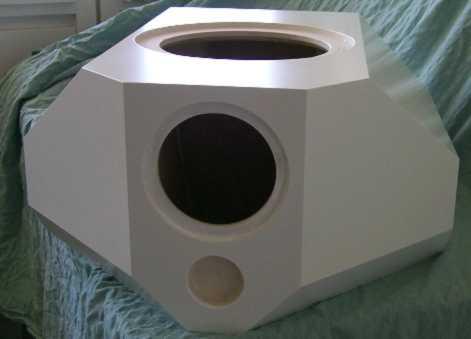 Center Bau: Box gespachtelt.